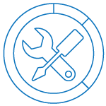 service centre metrics icon